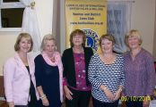 group of Lions ladies who helped run the pamper evening