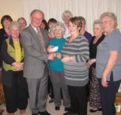 All Lions Ladies presenting the £800 cheque to Force
