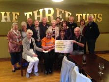 £1200 presented to Hospiscare Honiton towards new day Centre