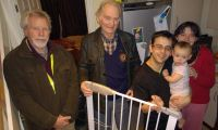 Lions Tom and Ed deliver Stair Gates to deserving family in Honiton