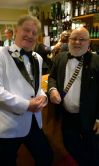 Fancy meeting you at the bar, DG Alan and Lion President Brian
