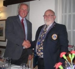 Lion President Brian for 2016/17 takes over from Lion Steve