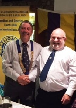 Lion President Brian hands over to New President John for 2017-18