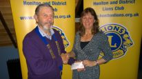 Lion President John with Laura from HALFF
