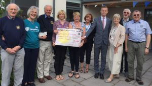 £200 presented to Hospiscare raised by Fulfords/Lions