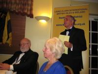 Guest speaker, Chairman of Honiton Chamber of Commerce, Colin Wright