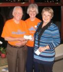 £750 presented by Lions Presidents wife Linda to ForceCancer