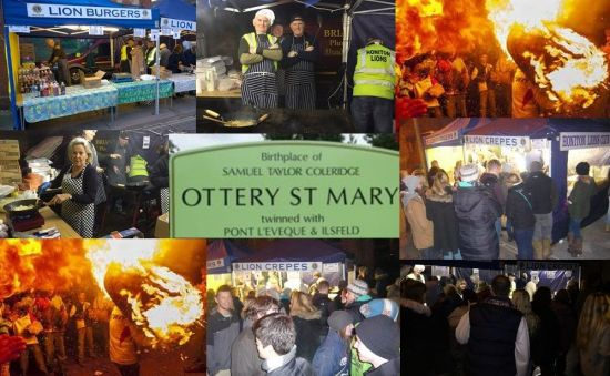 Lions BBQ Stand at Tar Barrels Ottery St Mary