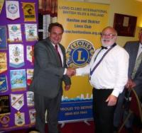 Lion Brian thanking Neil Parish MP