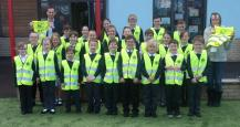 Ottery St Mary Primary with their new tabards