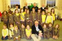 1st Honiton Brownies welcome The Lions