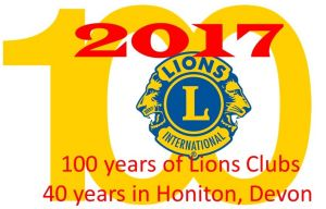 !00 years of Lions Clubs and 40 in Honiton Devon