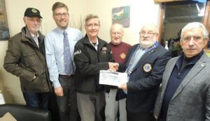£300 presenation to RNLI towards Penlee lifeboat station