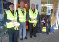 Lions John Ed and Roy collecting at Tesco April 12th