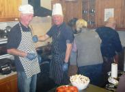 The cooks Lions Ed and Steve