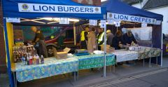 Lions getting setup and ready to serve