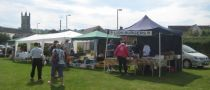 Lions BBQ and stalls at classic car event
