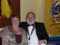 Lion President Brian Richards and wife Linda