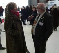 Lion President with BBC Radio Devon Presenter Judi Spiers