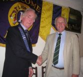 New Lion President ED takes over for 2013-\\\'4 from Ex Lion President Steve