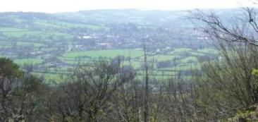 Honiton from Dumpdon hill looking west