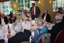Neil Parish speaking with guests during meal break