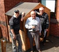3 builders and their shed