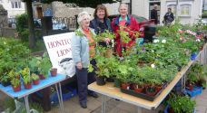 Lions ladies all set up and ready to sell
