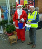 Lion Paddy with Lion Santa Bill