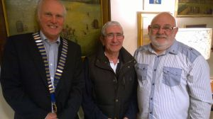 Lion President Steve with NEW Lion John and Membership chairman Brian