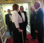 Lion Predident Ed welcomes DG Marianne to charter